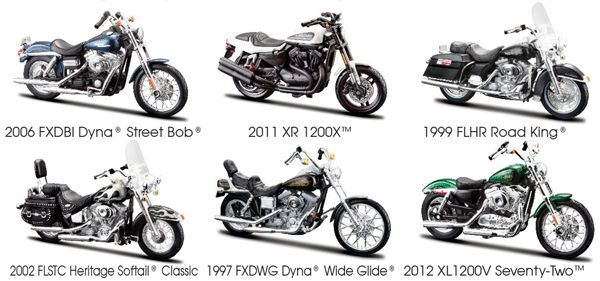 Maisto Harley Davidson Series 32 6 Piece