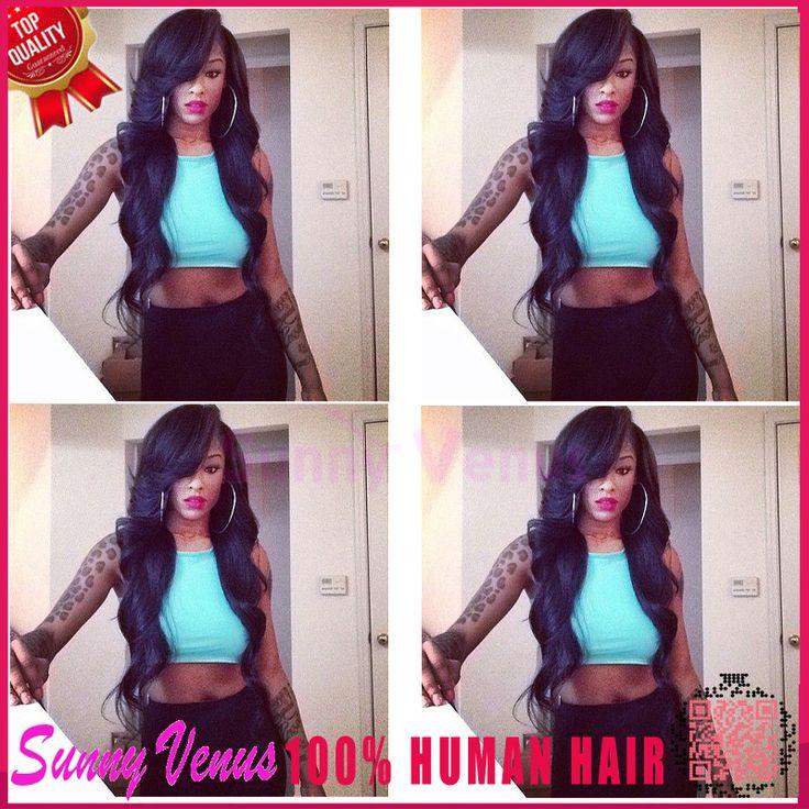 Free Shipping 100%Unprocessed Human Hair Brazilian Virgin Wave U Part Wig 130-180% Density Left Side U Part Wig For Black Women