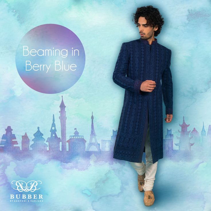 Adorn 'Berry Blue' This Monsoon Season! Order Our Blue Chikankari & Resham Embroidered Sherwani EnsembleToday! Contact: 9819980846/9820709875 The Bubber Couture Store. Google map link-https://goo.gl/maps/YvPDNrLEuBv Email: info@bubbercouture.com . . . . #newcollection #ss17 #navy #chikankari #lucknowi #sherwani #groom #indianwear #instafashion #monsoon #sakura #cherryblossom #odetothecherryblossom #bubbercouture