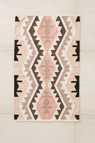 home accessory carpet rug aztec peach tribal pattern