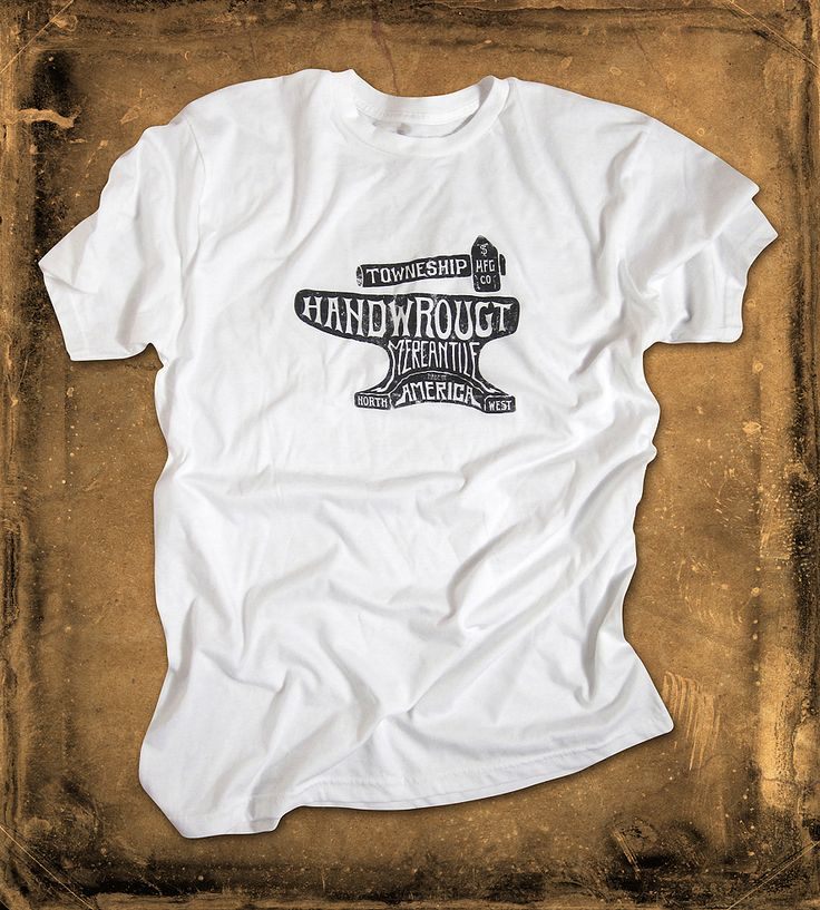 Handwrought Anvil T-Shirt | Hammer out your style with this anvil printed t-shirt This me... | T-Shirts