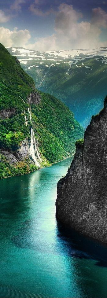 A fjord in Norway. Norway is one of the most beautiful European countries. Its dramatic and powerful landscapes will definitely take your breath away. #NorwegianBeauty #Fjord