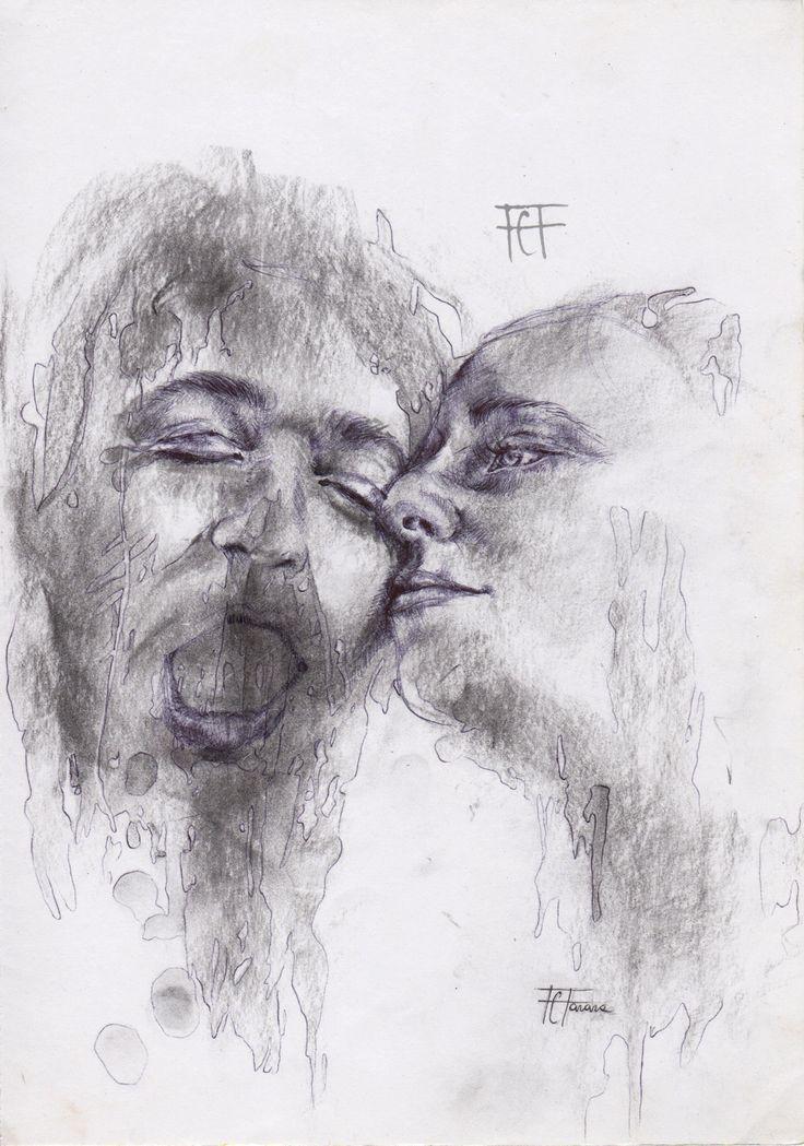 Risveglio. charcoal and pen on paper, 21x29,9 flaviafanara.tumblr.com