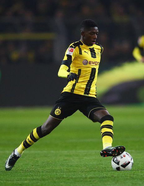 Ousmane Dembele of Borussia Dortmund in action during the Bundesliga match between Borussia Dortmund and FC Augsburg at Signal Iduna Park on December 20, 2016 in Dortmund, Germany.