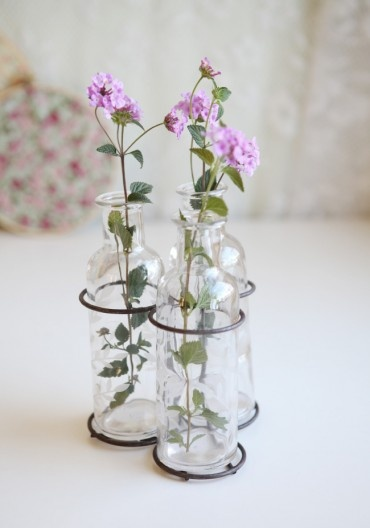 Ivy Leaves Glass Bottle Set