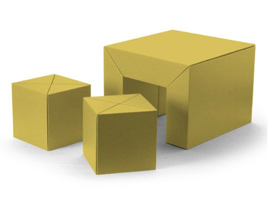 Carton Furniture Kid's Set by Riki Watanabe | Inhabitots