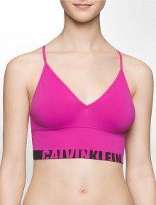 Calvin Klein růžová bezešvá podprsenka Seamless Bralette