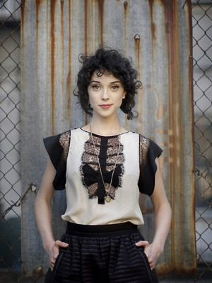 St. Vincent - I love her curly bangs in this picture. Heck, I love all her curls in this picture :)