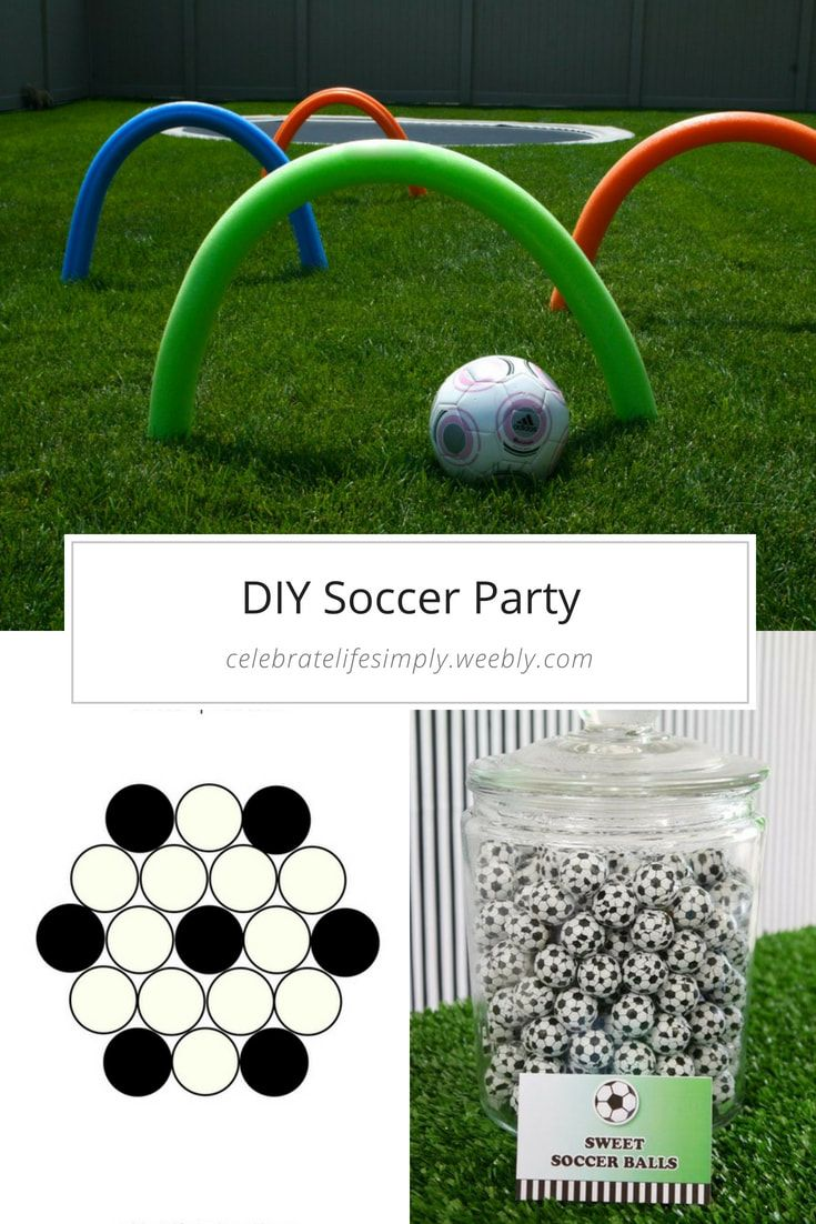 Diy Soccer Party Decorations Food Activities Soccer Birthday Parties Soccer Party Decorations Kids Soccer Party