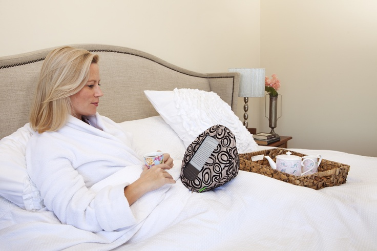 the original velvet circles tabCoosh. Nothing beats lounging in bed while comfortably reading from your tablet.
