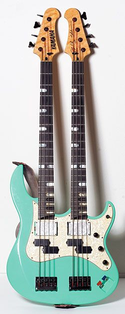 Billy Sheehan Yamaha Attitude double neck Bass - Tuned top E-A-D-G - bottom B-E-A-D
