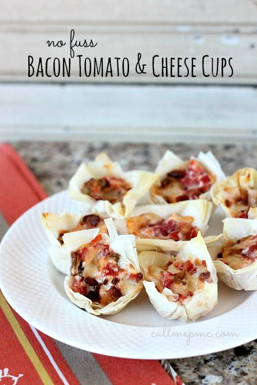 Tocino Tomate Tazas de queso # callmepmc
