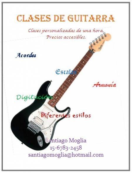Clases de guitarra eléctrica, acústica o criolla en Quilmes.