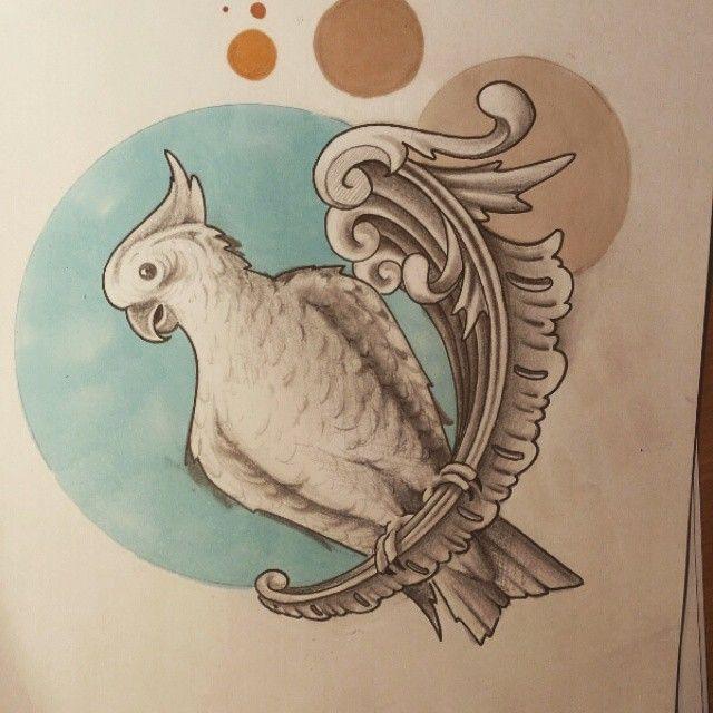 #skiss #papegoja #tattoodesign #västerås #eskilstuna