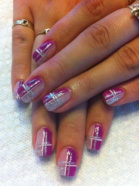 37 Elegant Purple Glitter Coffin Nails For Summer ...