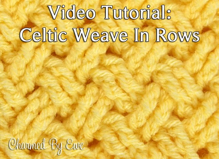 Tutorial: Diagonal Celtic Weave in Rows. Also tutorial with only pics. Awesome!