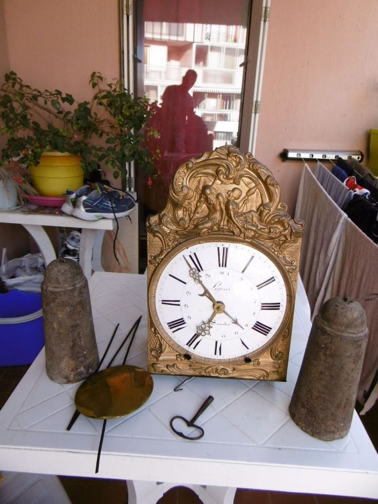 Mouvement,mécanisme ancien XIXE et avant de comtoise,horloge LEGRAS à SAINTES