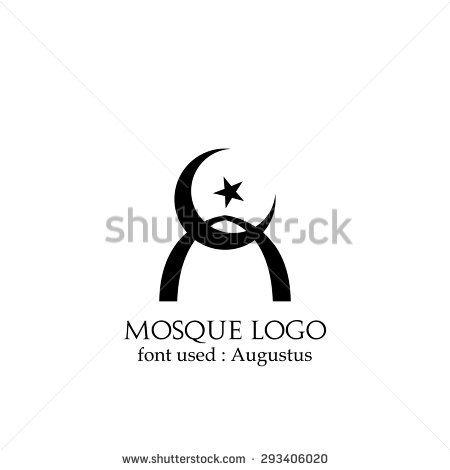 vector elegant mosque logo