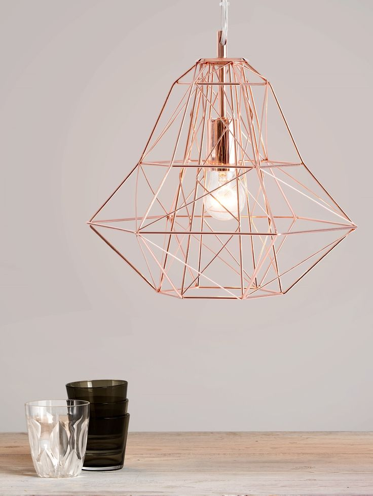 Nook Pendant, in Copper. Use a filament bulb to complete your statement lighting piece. £49. MADE.COM