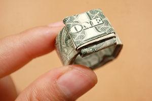 "Fold a Dollar Bill to Make a Finger Ring - a ""Dollar Ring"""