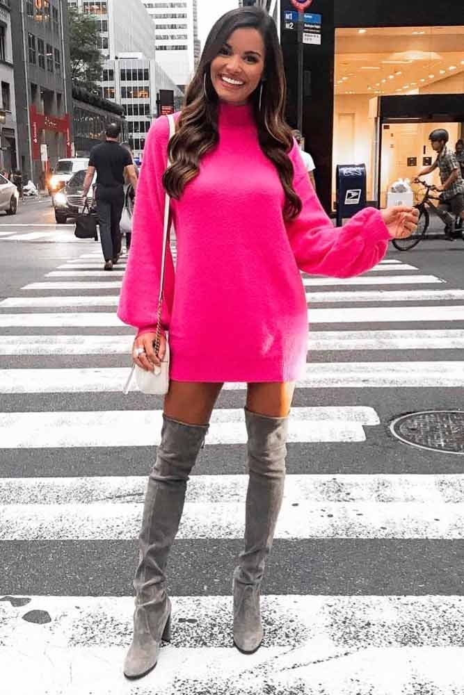 ea9f803e00d 18 Inspiring Ideas How To Rock A Sweater Dress On Daily Basis