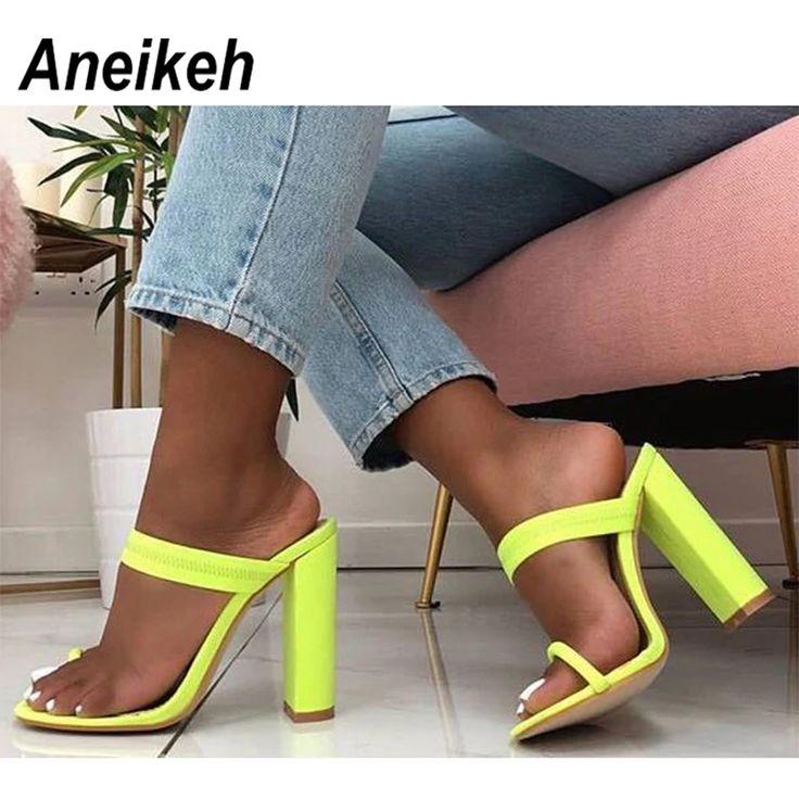 Sandals Slippers Thin High Heels Sandals Flip Flop PU27