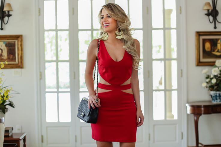 Marina Casemiro, look, night, vestido, vermelho, recortes, máxi brinco, tendencia, amarena, ribeirao preto, blog, fashion blog, look noite-1