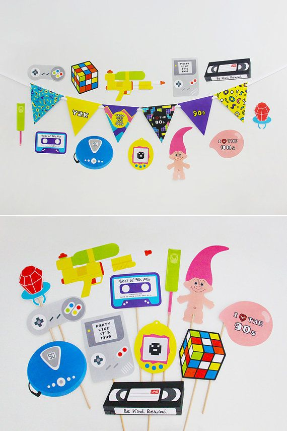 90s Party Decorations and 90s Party Photo Booth by CreativeSenseCo