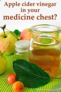 "You should take a dose of apple cider vinegar daily ""to keep the doctor away."""