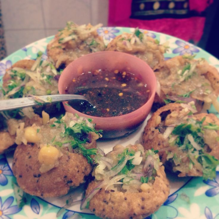 Bengali Fuchka or Panipuri. Bengali and Indian street food.