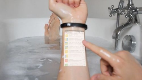 Make Your Skin Your New Tablet With The Cicret Bracelet [Wearable Electronics: http://futuristicnews.com/tag/wearable/ Smart Watches: http://futuristicshop.com/category/smart-watches-wearable-electronics/]