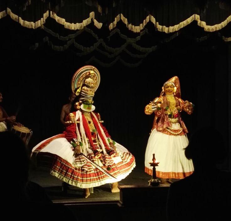 Kathakali, traditional Keralan dance performance, India