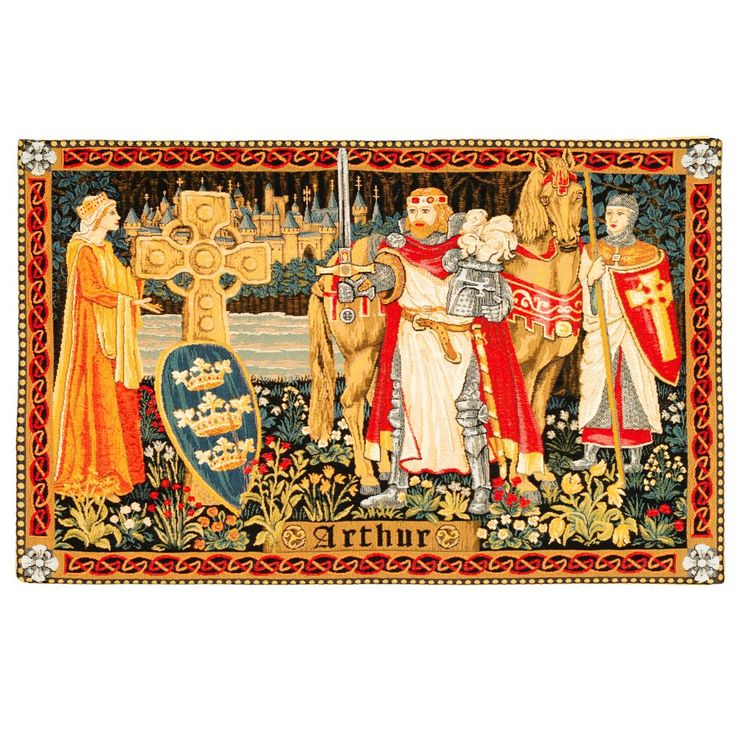 King Arthur tapestry-Depicts Henry VIII's childhood hero- Historic Royal Palaces online gift shop