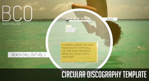 Circular Discography Template. http://tympanus.net/Development/CircularDiscographyTemplate/
