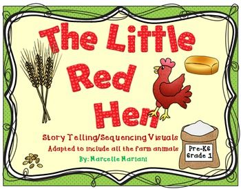 "FREE ""The Little Red Hen-On the FarM"" -Story Telling -Sequencing.....Follow for Free ""too-neat-not-to-keep"" teaching tools & other fun stuff :)"