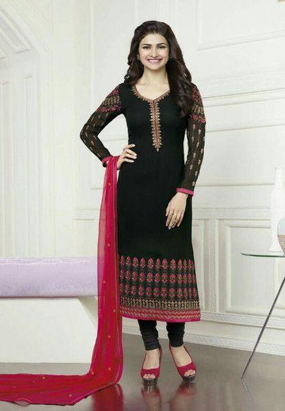 #Kaseesh #Prachi Indian #SalwarKameez Suit Vol16 3572 #Black