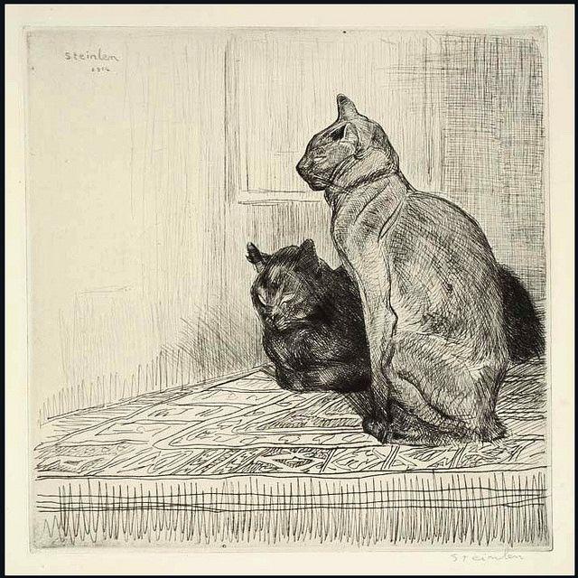 71 best Steinlen ^^ Museum of Cat Art images on Pinterest Black - Lettre De Resiliation De Bail Meuble