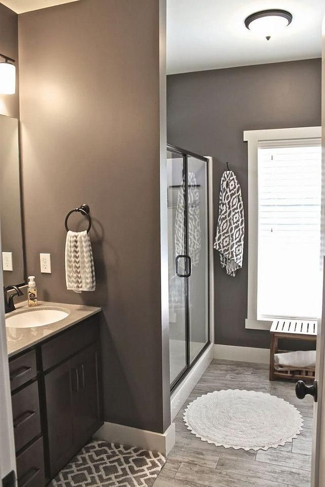 get rid of that awful star wallpaper in master bath mink by sherwin williams - Bathroom Ideas Colors For Small Bathrooms