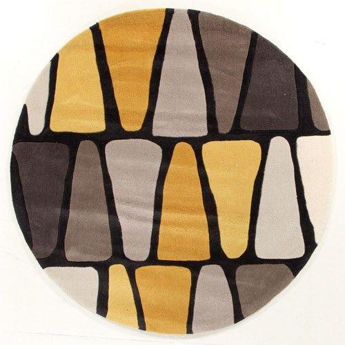 Coral Rose Modern Designer Rug - Black and Gold - 200 x 200cm 6% OFF | $309.00 - Milan Direct