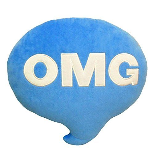 O My God Pillow Stuffed Plush Toy Doll Blue (Omg), 2015 Amazon Top Rated Kids' Bedding #Home
