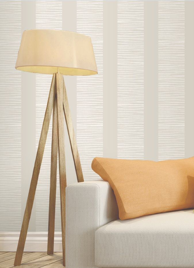 This neutral wallpaper is the ideal backdrop to any room. Pick a soft, calming accent colour to make your furnishings stand out. For more inspiration, check out our other boards or view our full range on diy.com/wallpaper