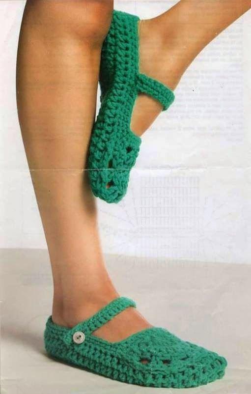 Ivelise Feito à Mão: Sapatinho De Crochê Adulto