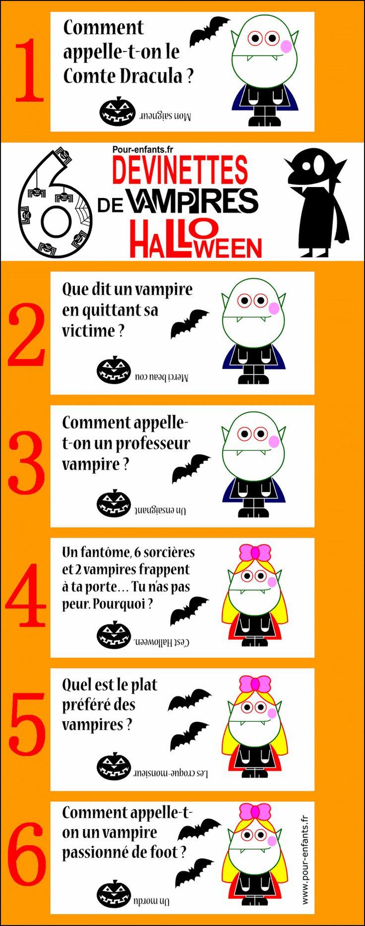 Blagues et devinettes de vampires. Devinettes Halloween pour enfants.