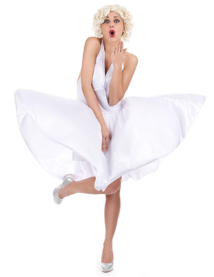 Este disfraz de actriz rubia para mujer se compone de un vestido blanco (peluca no incluida).    Es un disfraz ideal para tus fiestas de disfraces, temáticas, espectáculos y carnavales.