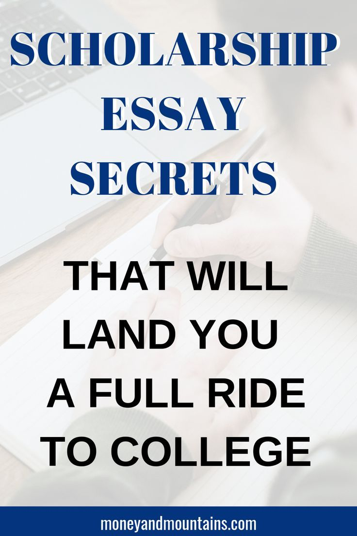 How to write the perfect scholarship essay college essay