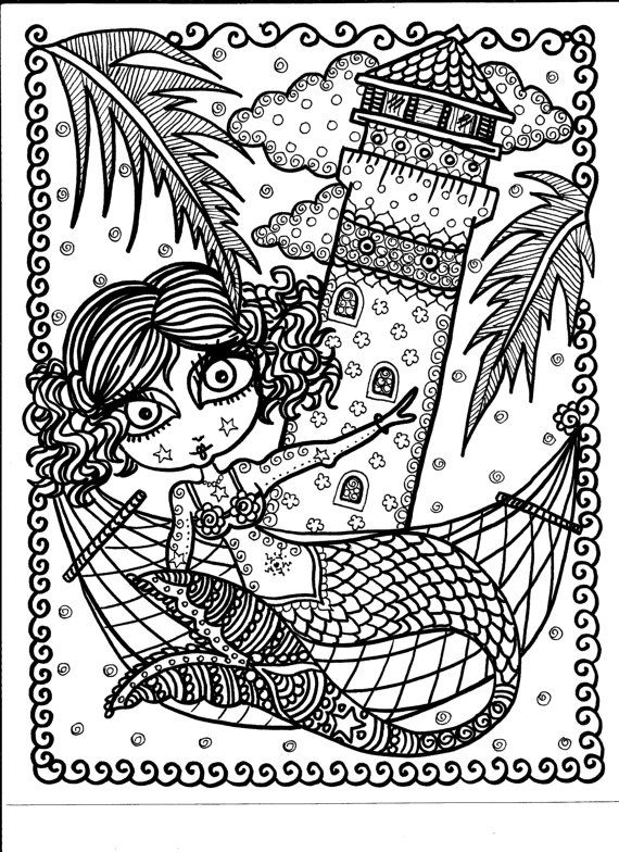 Coloring Book Key West Mermaids Be the Artist Fun by ChubbyMermaid