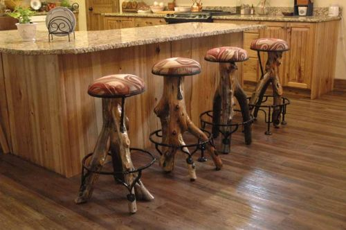 Log Bar Stool Custom Sizes Available The Refuge Lifestyle Exquisite Handcrafted Rustic