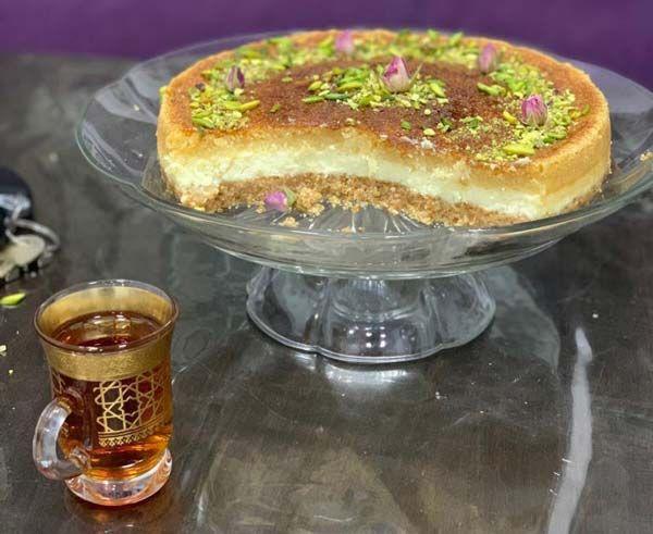 طرز تهیه چیز کیک بسبوسه دسر عربی خوشمزه و مقوی مجله تصویر زندگی Recipe Food Desserts Cake Recipes