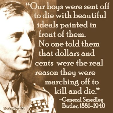 """War is a racket"" by General Smedley Butler"
