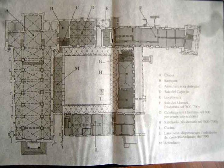 Planimetria Abbazia di Morimondo. Milano
